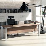 Επιπλα γραφείου χρώμα δρυς και μεταλλικό: γραφείο