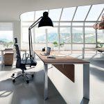 Επιπλα γραφείου χρώμα δρυς και μεταλλικό: γραφείο 02