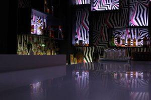 Επιπλα καταστημάτων: Επιπλα bar - μπαράκι πάγκος και ράφια και κρυφοί φωτισμοί 02