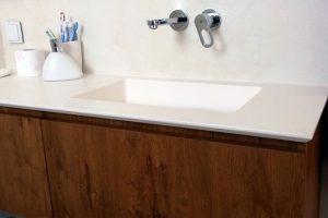 Επιπλα κόριαν: Νεροχύτης και πάγκος επίπλου μπάνιου