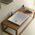 Επιπλο μπάνιου βάση νεροχύτη με ράφια