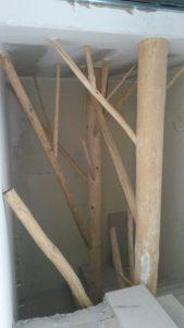 Ξύλινη κατασκευή διακόσμησης