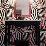 Ξύλινη κατασκευή σκαλιστό έπιπλο κονσόλα με σκαλιστό καθρέφτη