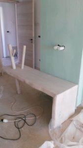 Ξύλινη κατασκευή έπιπλο μπάνιου