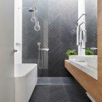Επιπλο νεροχυτη μπάνιου - διπλού νεροχύτη σε μοντέρνα γραμμή