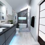 Επιπλο νεροχύτη μπάνιου σε μαύρη /σκούρη γκρι απόχρωση