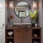 Μοντέρνο έπιπλο νεροχύτη μπάνιου με ντουλάπια και ράφια