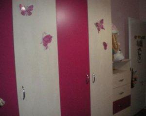 παιδική ντουλαπα ροζ