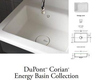 Νιπτήρας Corian Energy 7720 Λευκό