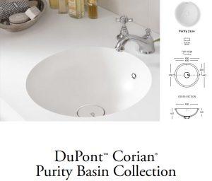 Νιπτήρας Corian Purity 7720 Λευκό