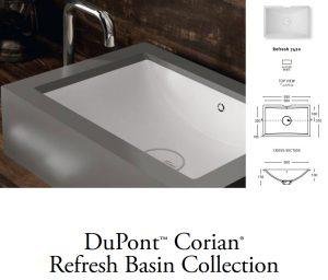 Νιπτήρας Corian Refresh 7420 Λευκό