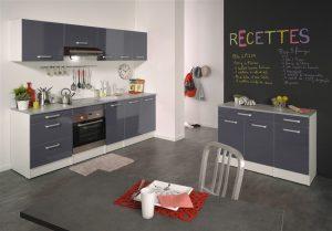 Ετοιμη κουζίνα σε γκρι χρώμα μοντέλο Lanique