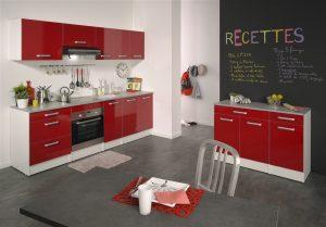 Ετοιμη κουζίνα κόκκινη μοντέλο lanique