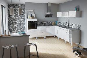 Ετοιμη σύνθεση κουζίνας οικονομική σε λευκό χρώμα - μοντέλο Lime