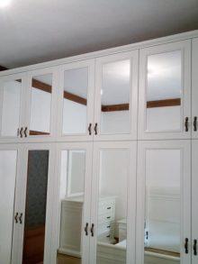 Κατασκευή ντουλάπας με πατάρι και καθρέπτες (εξάφυλλη)