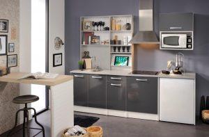 Γκρι κουζίνα σε μοντέρνο σχεδιασμό – Serol